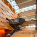 "Reed College's Performing Arts Building was selected for the ""Beauty of Wood"" 2014 National US Wood Design Award"